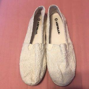White airwalks (worn once)